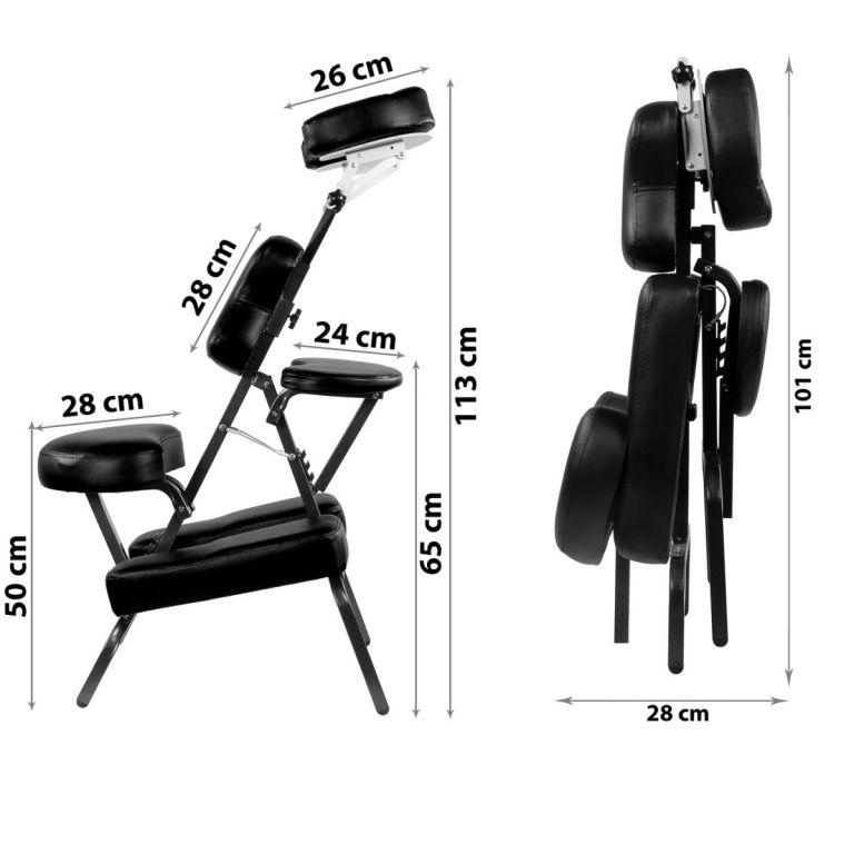 Masážní židle Movit skládací černá 8,5 kg