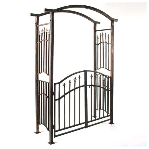 Robustní brána Garth v antickém stylu 207 x 130 x 50 cm M01345