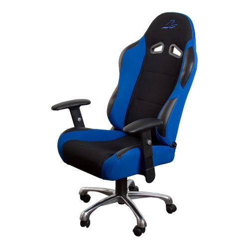 Kancelářská židle sportovní design - modrá / černá