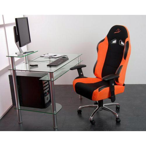 Kancelářská židle sportovní design - oranžová OEM M01383