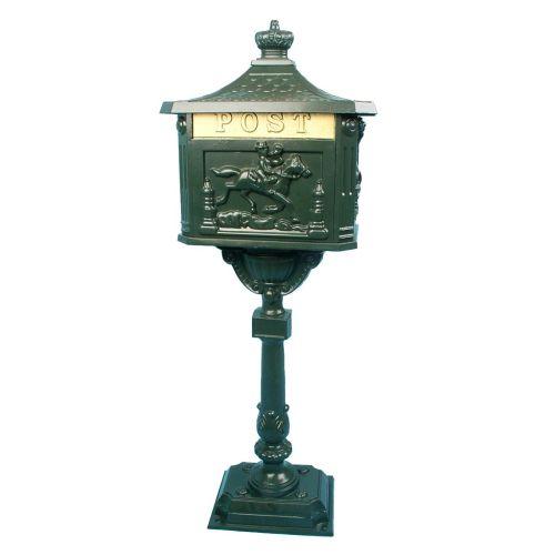 Ozdobná poštovní schránka – olivově zelená