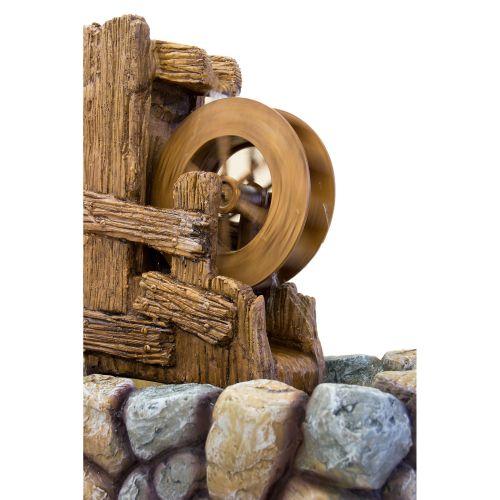 Zahradní kašna -  fontána vodní kolo