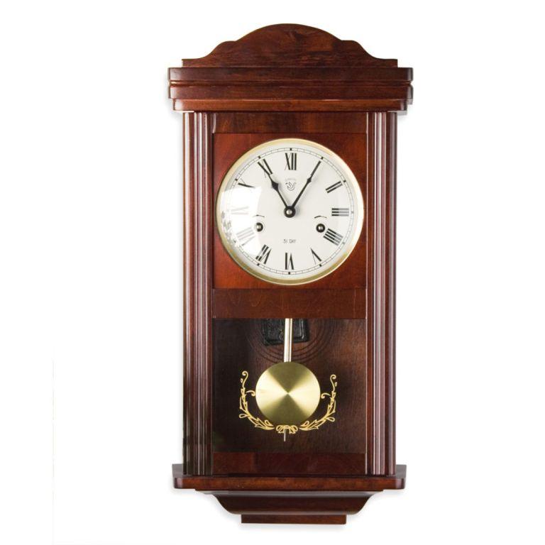 Nástěnné kyvadlové hodiny THESEUS mahagon – 60 cm