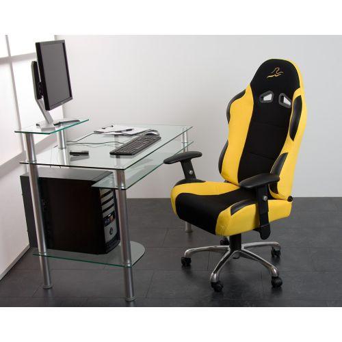 Kancelářská židle žluto-černá