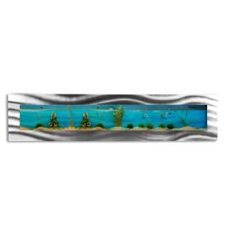 Nástěnné akvárium - akvárko  200 x 44,5 x 11 cm