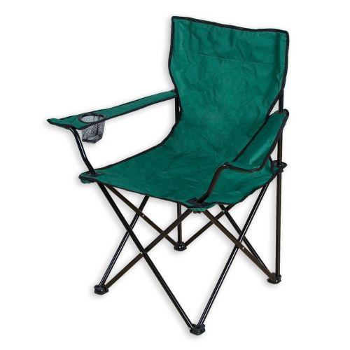 Skládací kempingová židle zelená , P1512