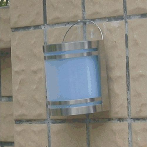 Solární zahradní nástěnné LED svítidlo z nerez oceli Garth