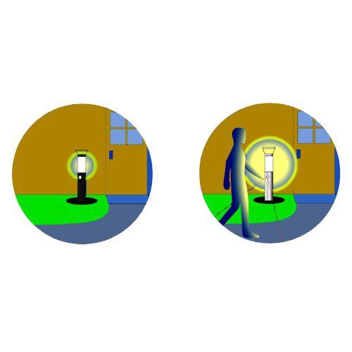 Zahradní solární lampa s pohybovým čidlem 38 cm