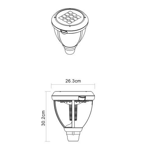 Zahradní lampa s detektorem pohybu 186 cm