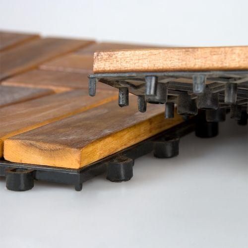 Dřevěná podlahová dlaždice Garth 1 ks 30 x 30 x 2,4 cm akát