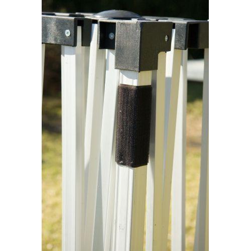 Zahradní párty stan Stilista nůžkový bílý 3x3 m + 2 bočnice