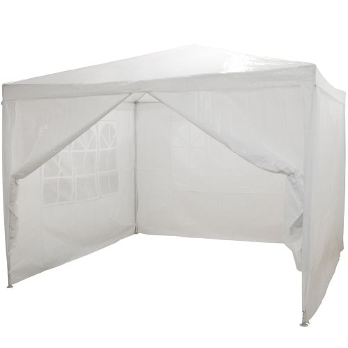 Zahradní párty stan - bílý 3 x 3 m + 4 boční díly