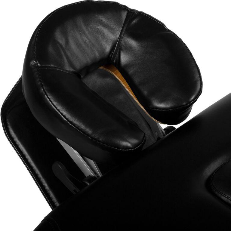 Přenosné masážní lehátko DELUXE MOVIT černé 185 x 80 cm
