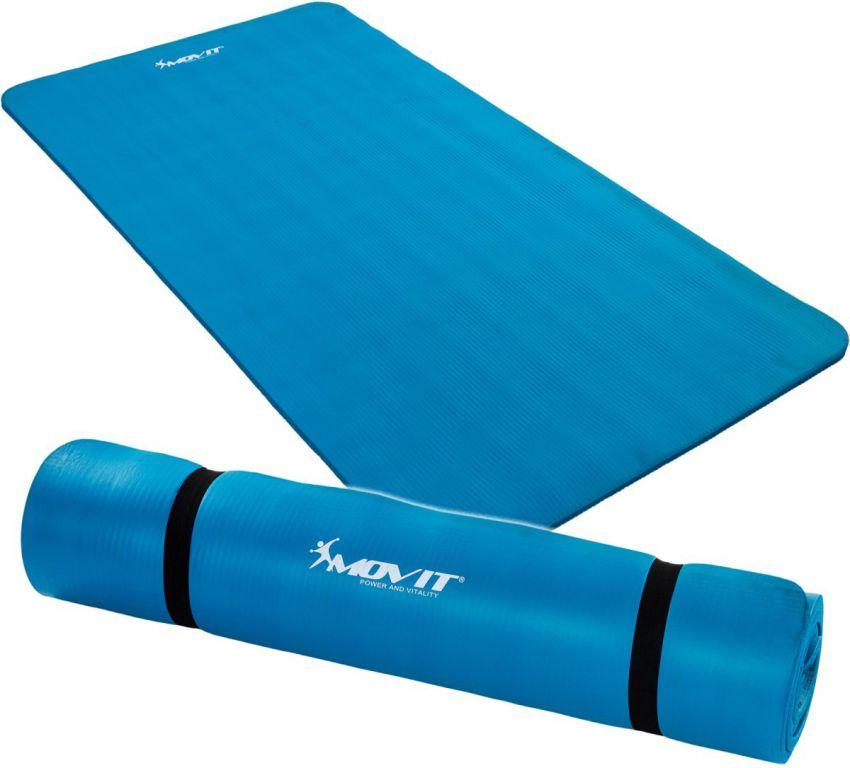 Podložka na jógu MOVIT 190 x 100 x 1,5 cm modrá