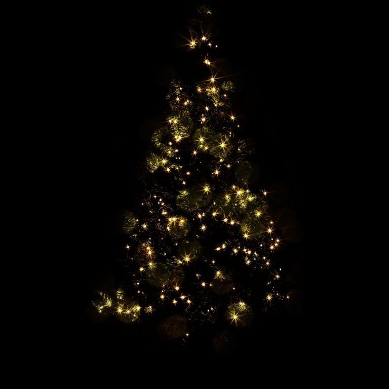 Vánoční LED osvětlení - 40 m, 400 LED, teple bílé