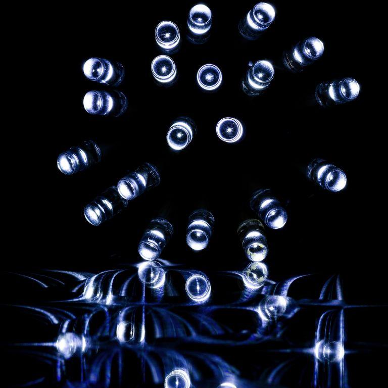 Vánoční světelný déšť - 5 m, 200 LED, studeně bílý