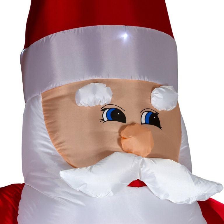 Vánoční dekorace - Nafukovací Santa - 280 cm