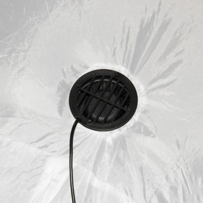 Osvětlený sněhulák 240 cm, nafukovací