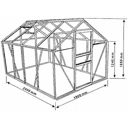 Skleník PLANTASIA 250 x 190 x 195 cm x 6 mm