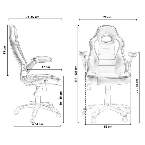 """Otočná kancelářská židle GT Series One """"Le Mans"""""""