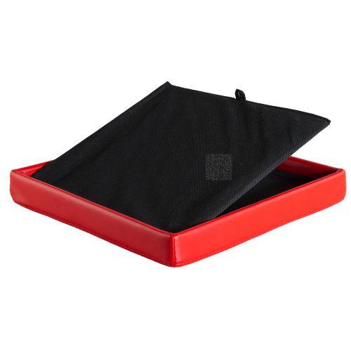 Taburet s úložným prostorem, červený