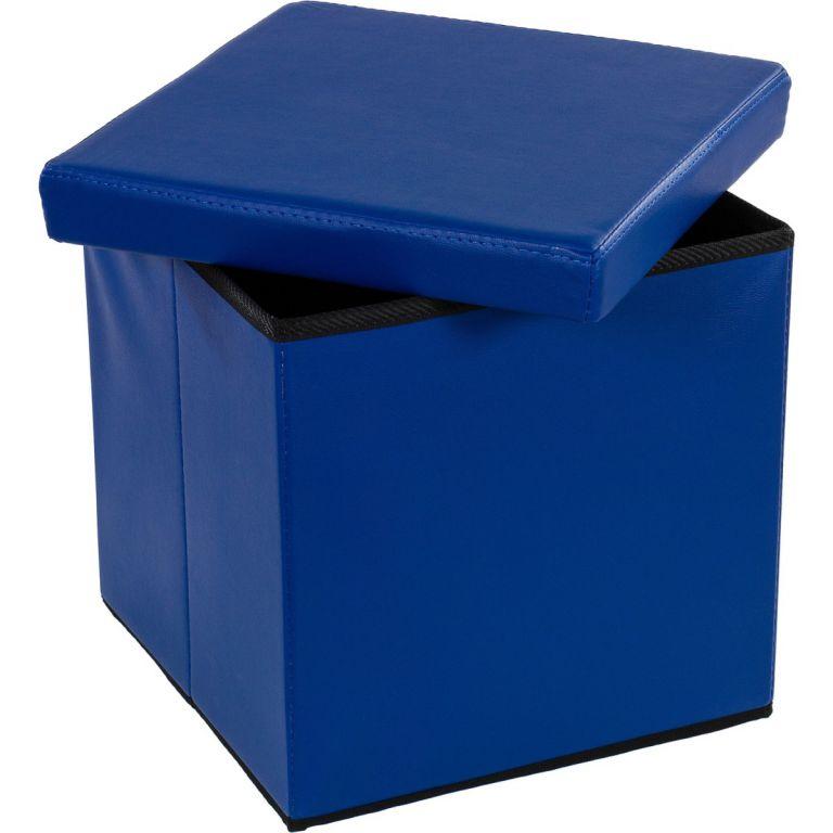 Taburet s úložným prostorem modrý OEM M02497