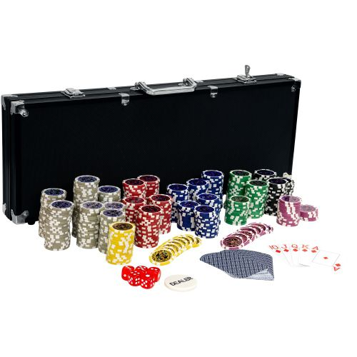 MAX 2644 Pokerový set, 500 žetonů Ultimate black