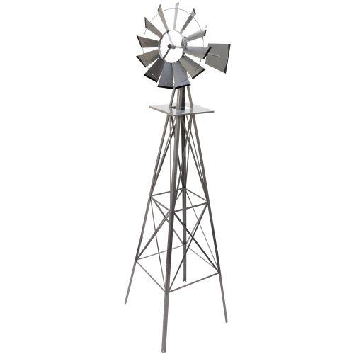 Větrný mlýn stříbřitě šedá, 245 cm