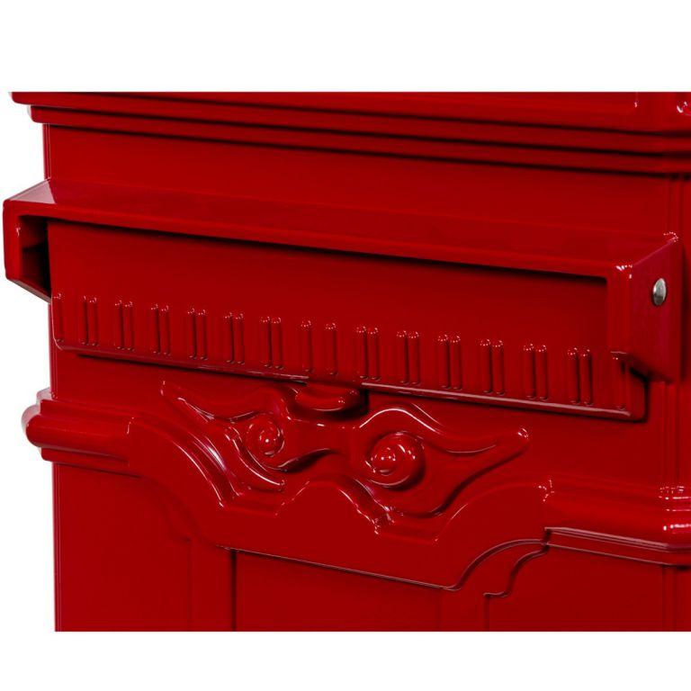Poštovní schránka starožitná antik - červená