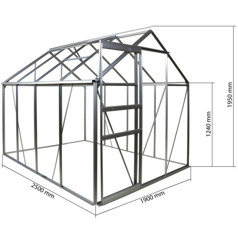 Skleník PLANTASIA 250 x 190 x 195 cm x 4 mm