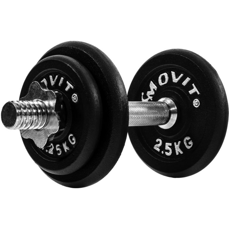 MOVIT 29353 Jednoruční litinová činka 10 kg