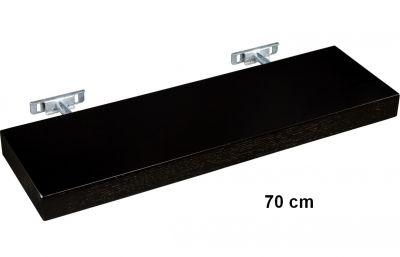 STILISTA SALIENTO Nástěnná police  - hnědočerná 70 cm