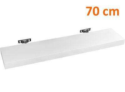 STILISTA SALIENTO Nástěnná police  - 70 cm bílá