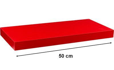 STILISTA VOLATO Nástěnná police  - matná červená 50 cm