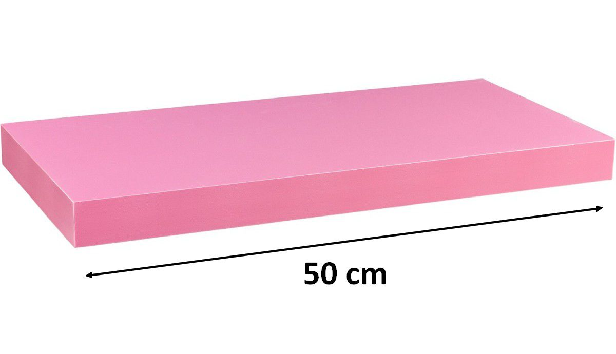 Nástěnná police STILISTA VOLATO - růžová 50 cm