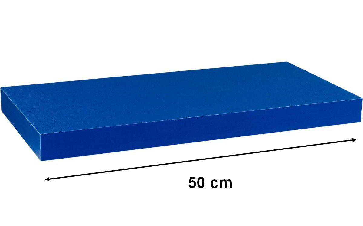 Nástěnná police STILISTA VOLATO - modrá 50 cm