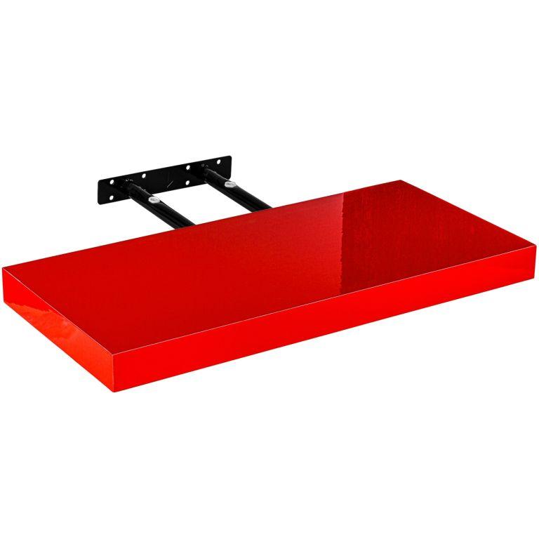 Stilista nástěnná police Volato, 50 cm, lesklá červená