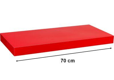 Nástěnná police STILISTA VOLATO - lesklá červená 70 cm