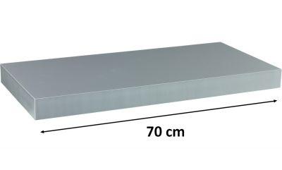 STILISTA VOLATO Nástěnná police  - stříbrná 70 cm