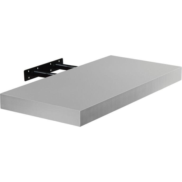 Nástěnná police STILISTA VOLATO - stříbrná 70 cm
