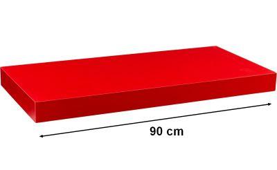Nástěnná police STILISTA VOLATO - červená 90 cm