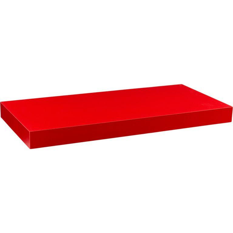 Nástěnná police STILISTA VOLATO - matná červená 90 cm