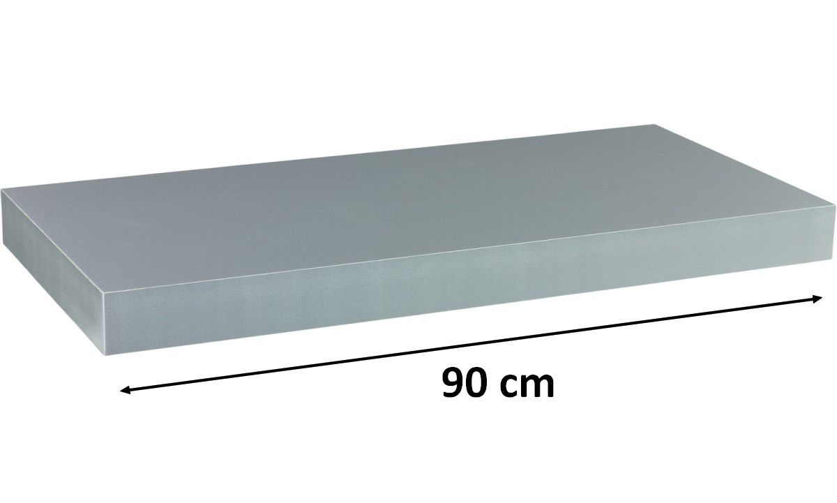 Nástěnná police STILISTA VOLATO - stříbrná 90 cm