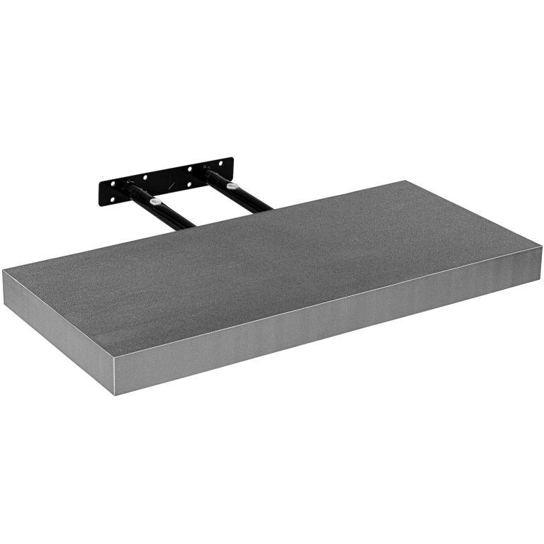 STILISTA VOLATO 31070 Nástěnná police - stříbrná 90 cm