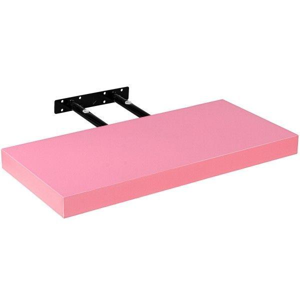 Stilista nástěnná police Volato, 110 cm, růžová