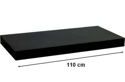 STILISTA VOLATO Nástěnná police  - lesklá černá 110 cm