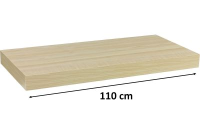 STILISTA VOLATO Nástěnná police  - světlé dřevo 110 cm