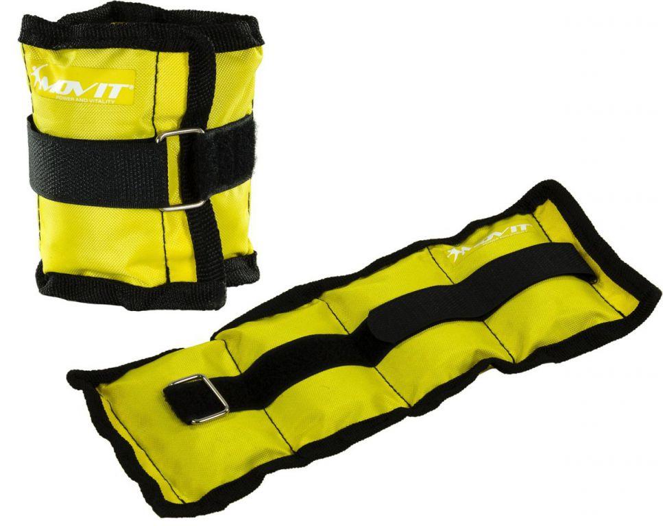 MOVIT zátěžové manžety, 2 x 0,5 kg žlutá