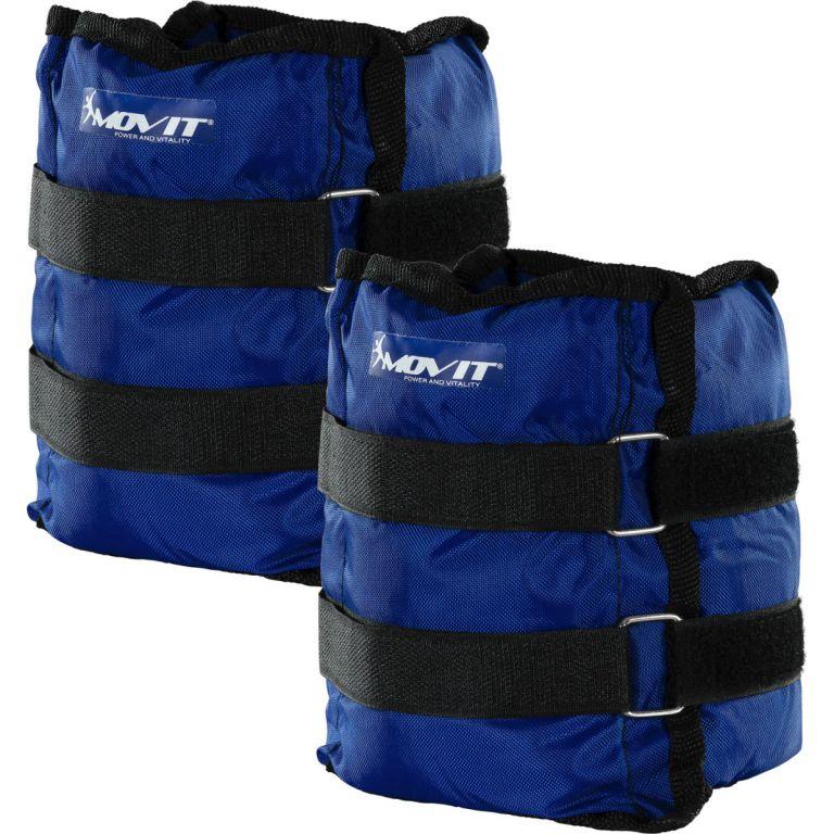 MOVIT zátěžové manžety, 2 x 4,0 kg modrá