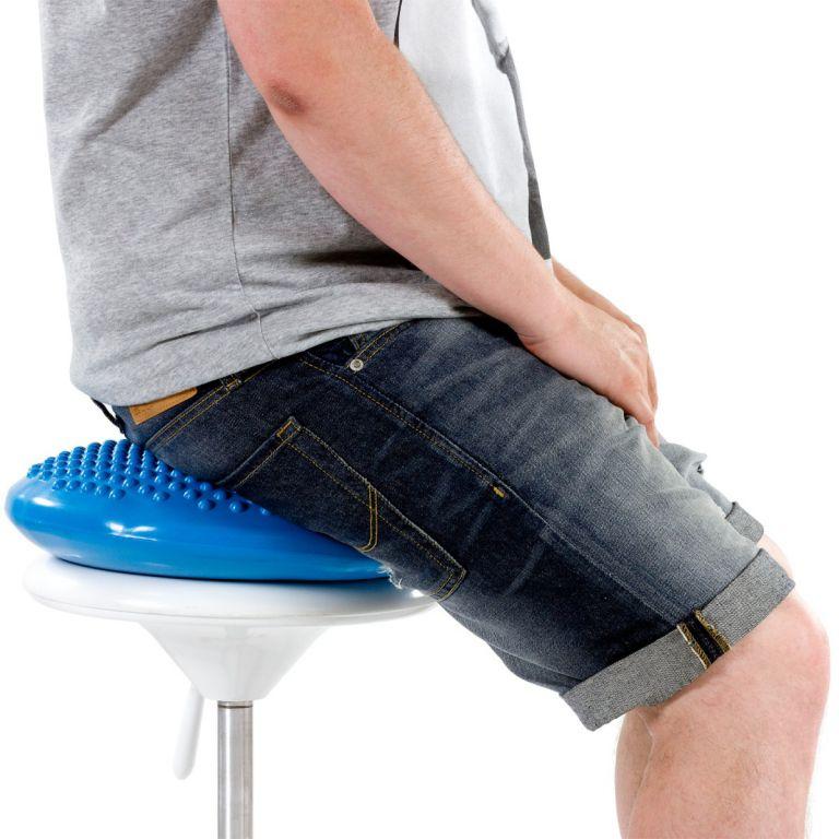 Balanční polštář na sezení MOVIT 37 cm XXL - fialový